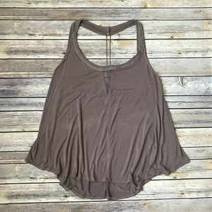 Free People Tan Halter Top with Beaded Detail